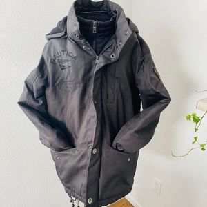 NAUTICA Waterproof Black Very Warm Coat 14-16 L
